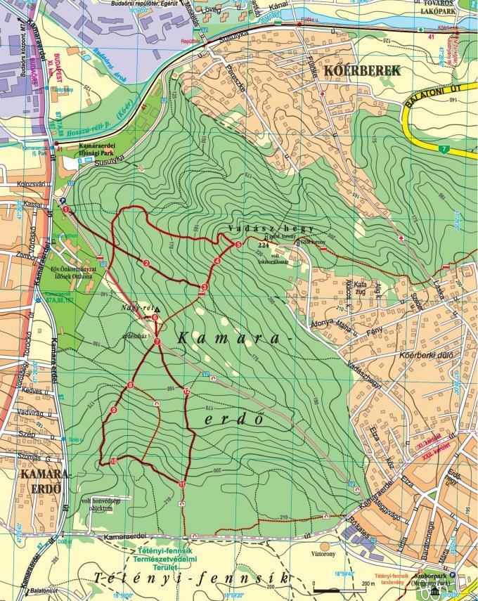 A tanösvény térképe (Foto: Bajor Zoltán)