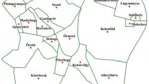 Újbuda térkép sematikus