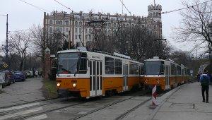 Széll Kálmán tér - továbbra is ideiglenes végállomásig jár a 18-as, az 59-es és a 61-es villamos (foto:iho.hu)